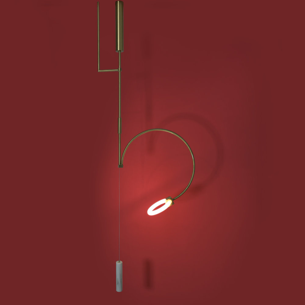 Chris Basias' lighting label  CT Lights  released several new fittings including this one: 'Jettus'