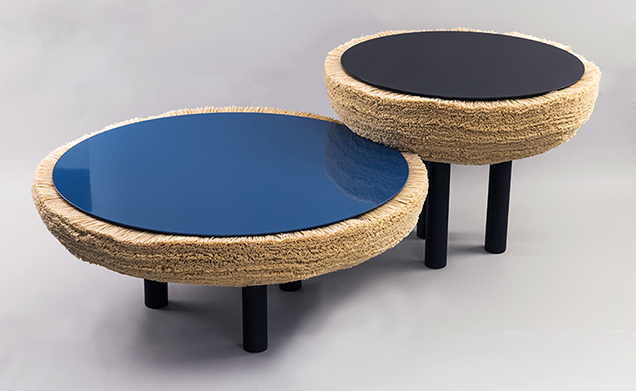 Limited edition 'Ninho' tables by Argentinian designer  Cristian Mohaded.