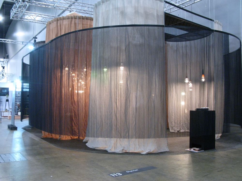The District stand at DENFAIR, a translucent enclosure to launch  Italian brand Giapato & Coombes  to the Australian market.