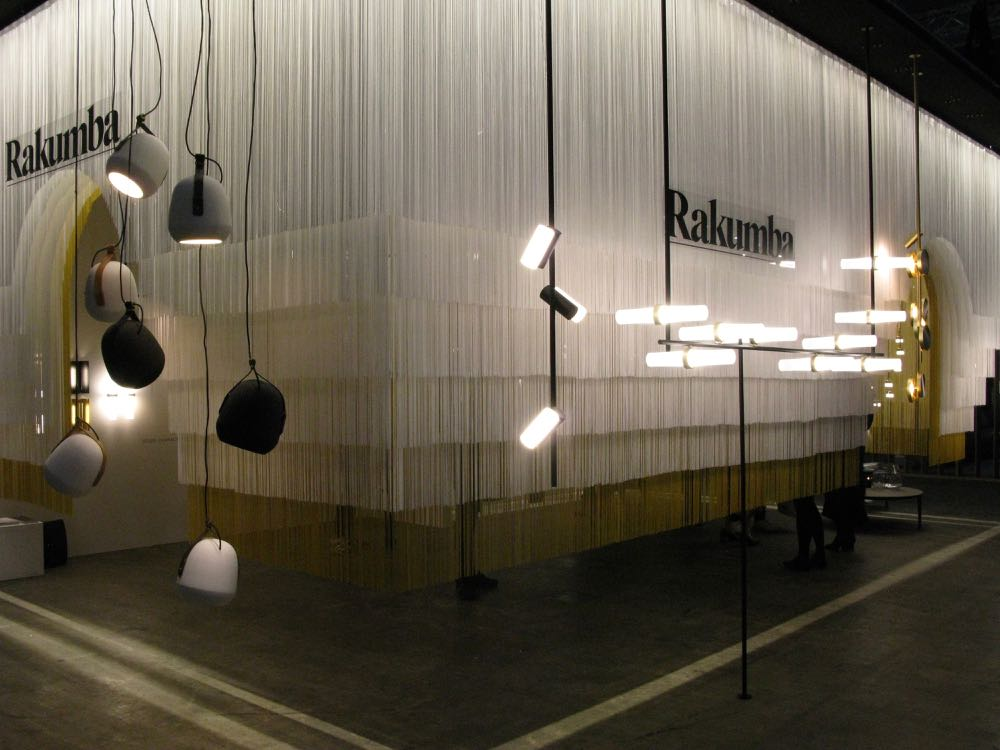 The Rakumba stand with their 'Stone Cow' pendants on the left and Studio Truly Truly's new 'Typography' on the right.