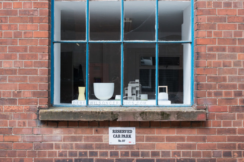 A view of Wilson's studio in East Belfast. His studio is in a former linen mill on the Newtownards Road. Photograph: Nic Eames