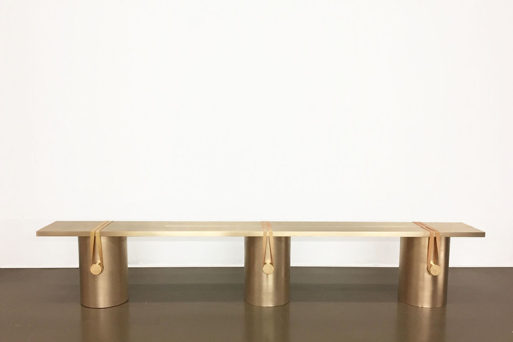 'RB02' bench by Johan Viladrich from The Art of Sitting exhibition ToolsGalerie Paris.