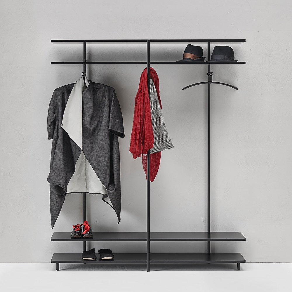 The Aero V open wardrobe by Shibuleru for Living Divani.