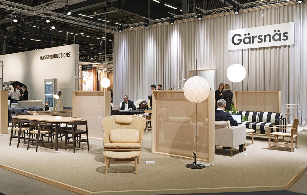 The Gärsnäs stand designed by Nina Jobs and Pierre Sindre at Stockholm Furniture & Lighting Fair 2019.