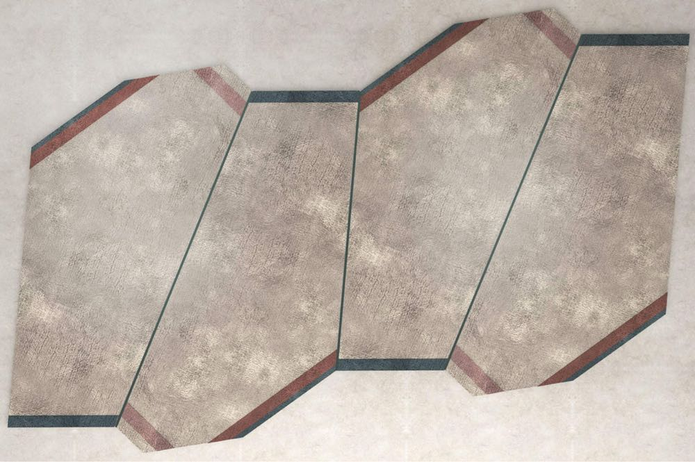 One of the new irregular shaped rugs by Storage Milano for Karpeta.