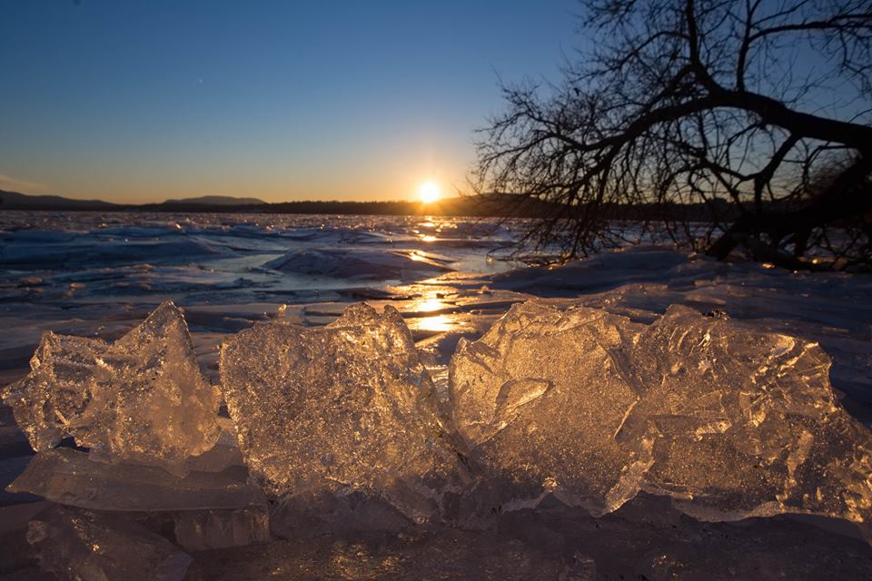 Icy Hudson River Sunrise - Photo courtesy of Alan Orr, Hudson Valley In Pictures