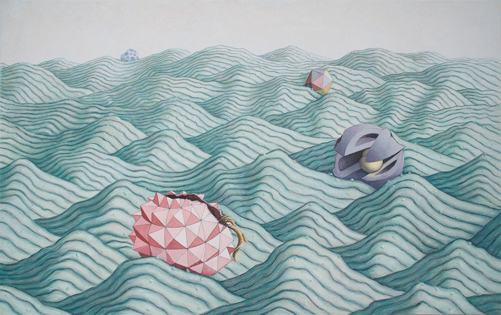 Flotilla, #1, 2013, flashe on panel