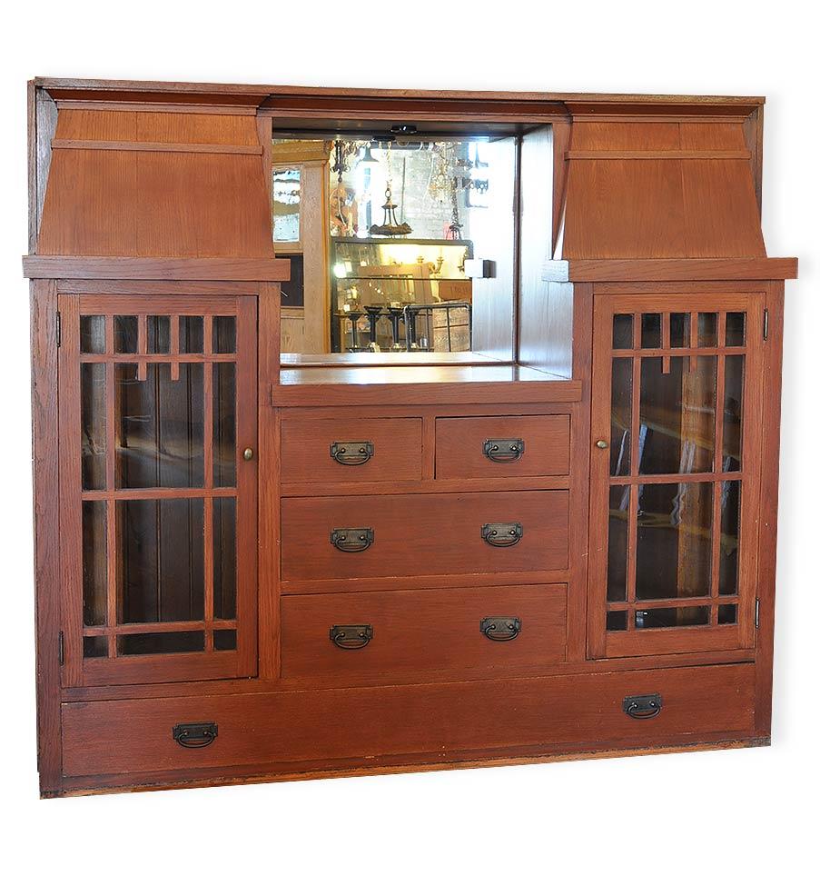 Colonial Oak Built In Buffet Architectural Antiques