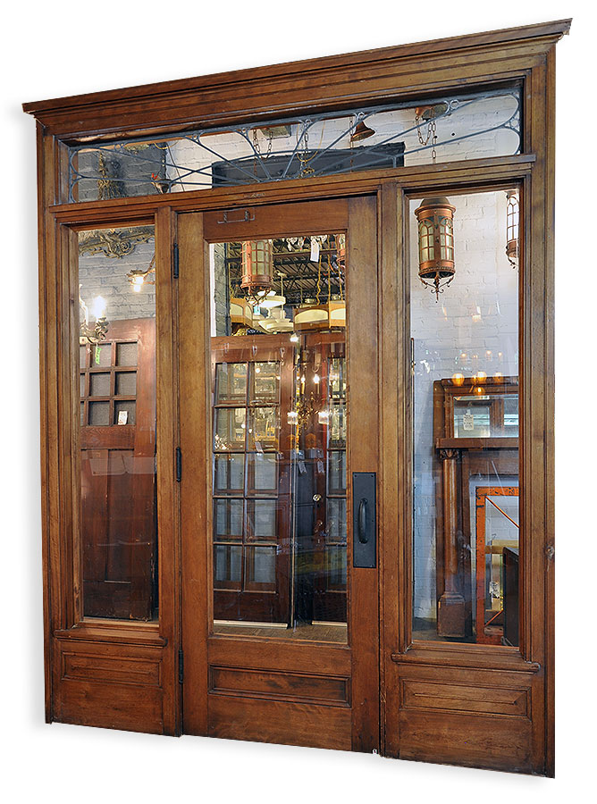 Leaded Transom Single Passageway Architectural Antiques