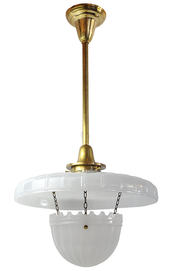 MILK GLASS PENDANT FIXTURE