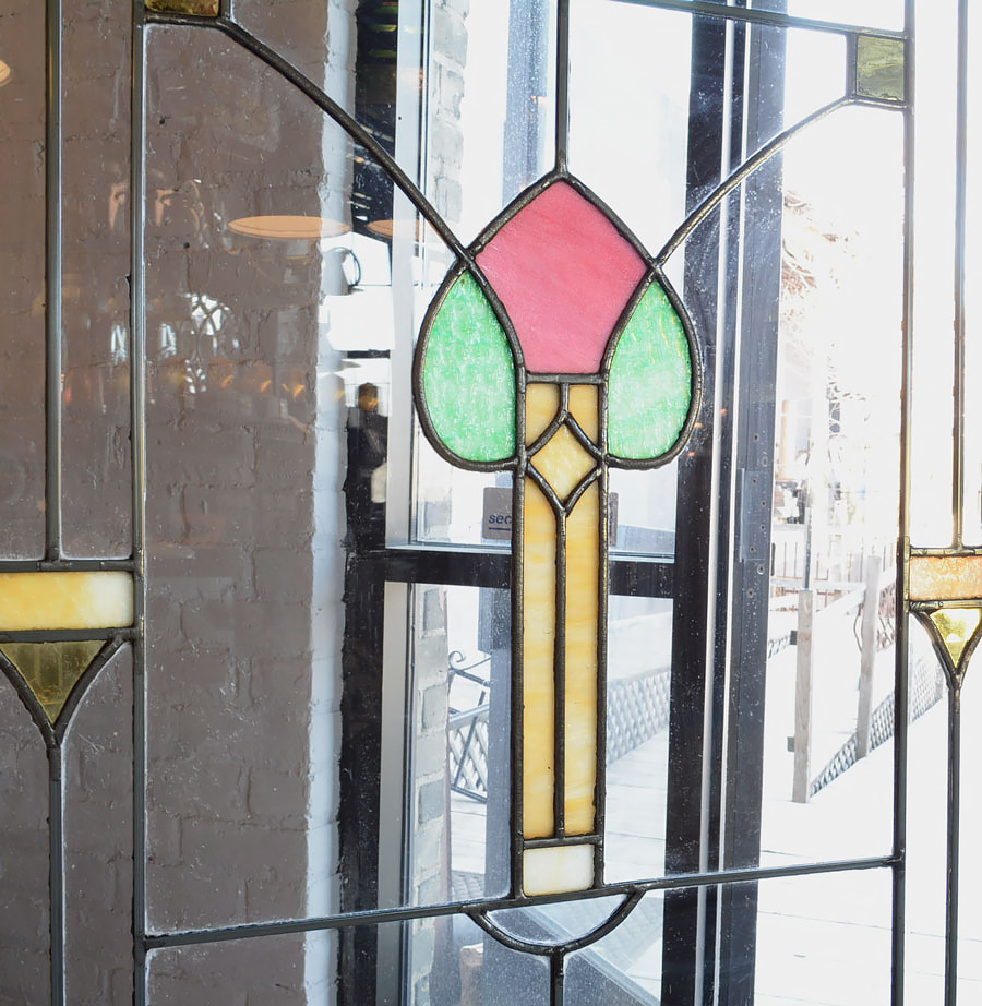 5 Stained Glass Window With Flower