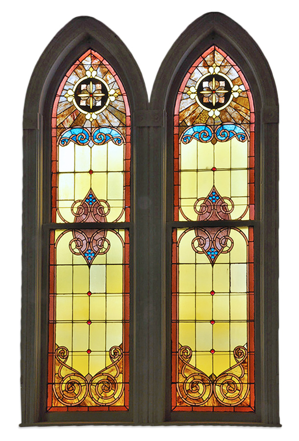 LARGE ARCHED CHURCH WINDOW