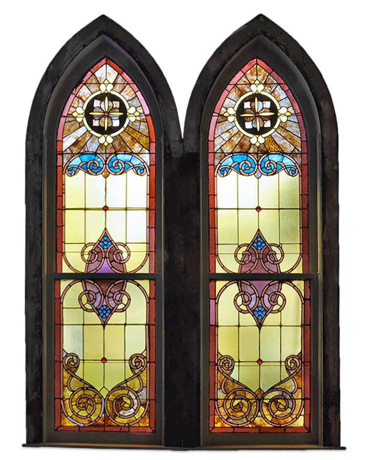 ARCHED CHURCH WINDOW