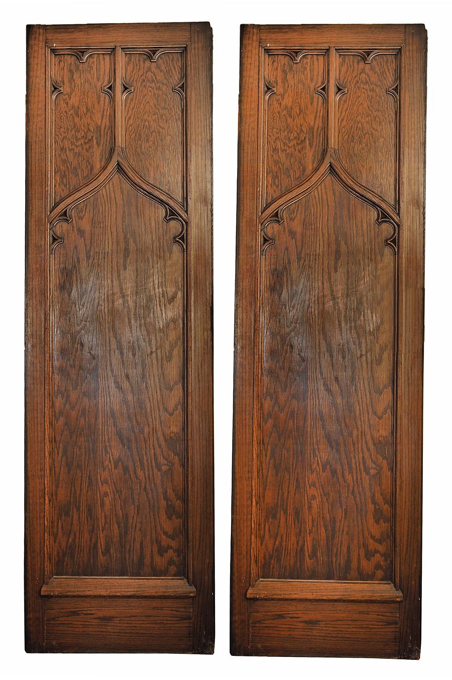 oak gothic inlaid panel door & oak gothic inlaid panel door \u2014 ARCHITECTURAL ANTIQUES