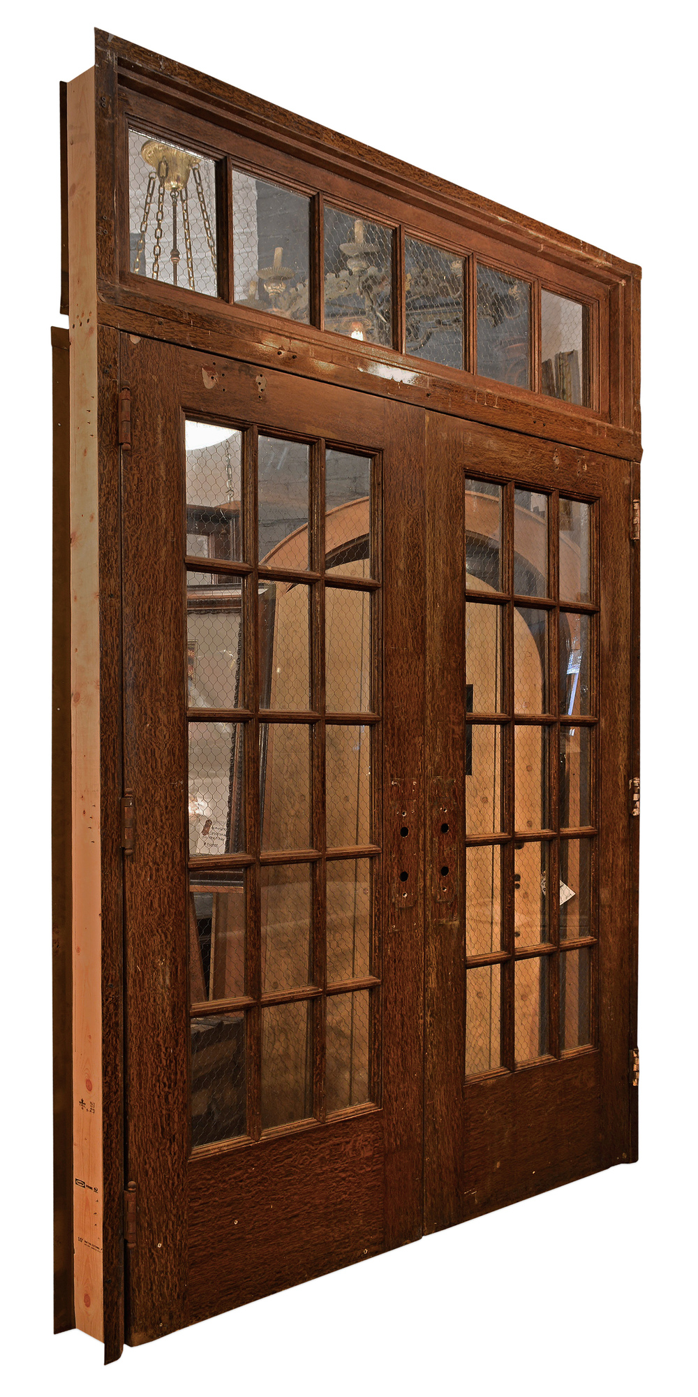 chicken wire glass panel doors — ARCHITECTURAL ANTIQUES