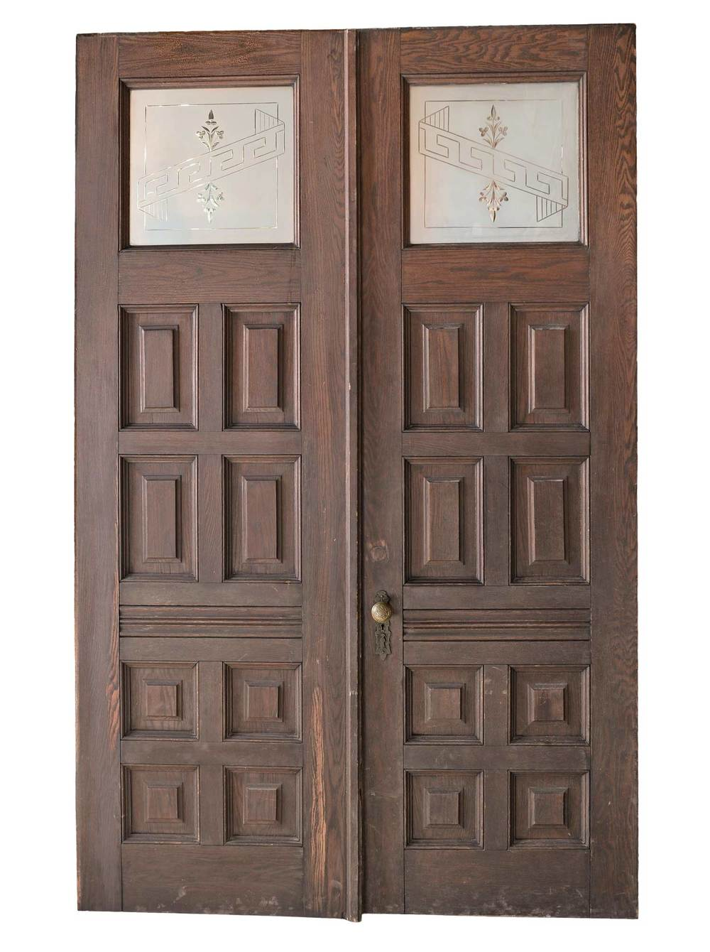 46019 Double Doors With Etched Glass