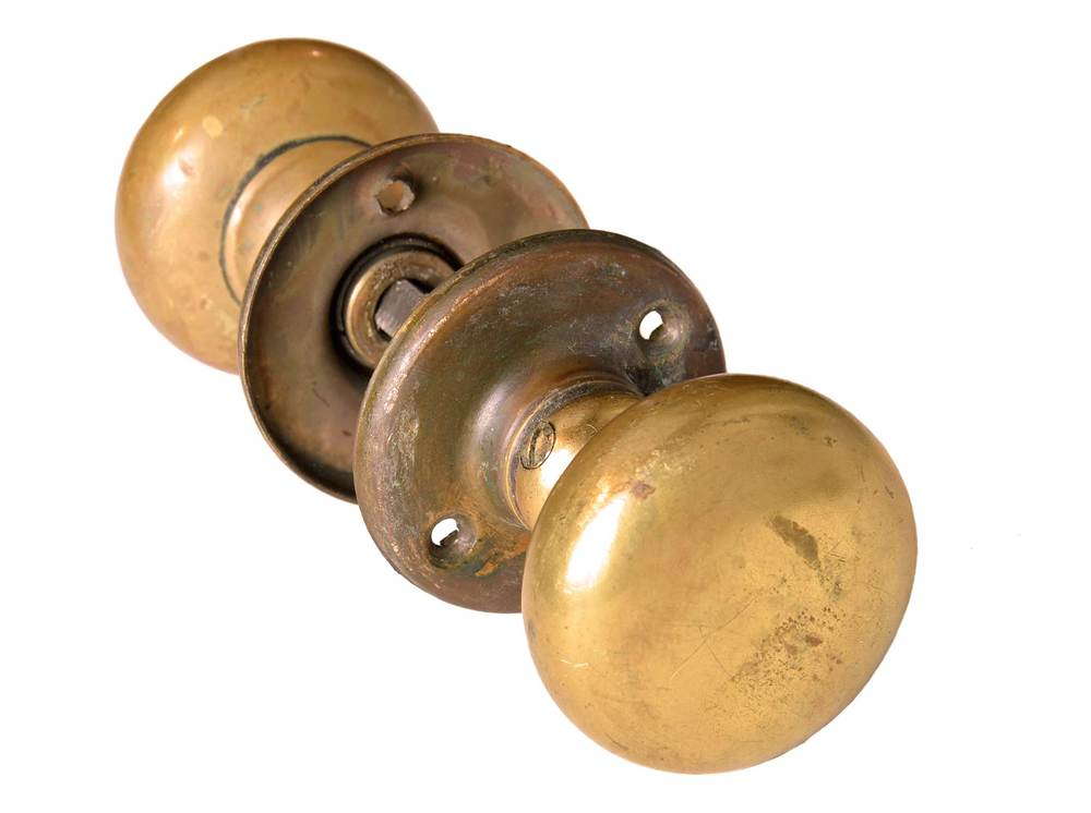 brass door knob sets— architectural antiques