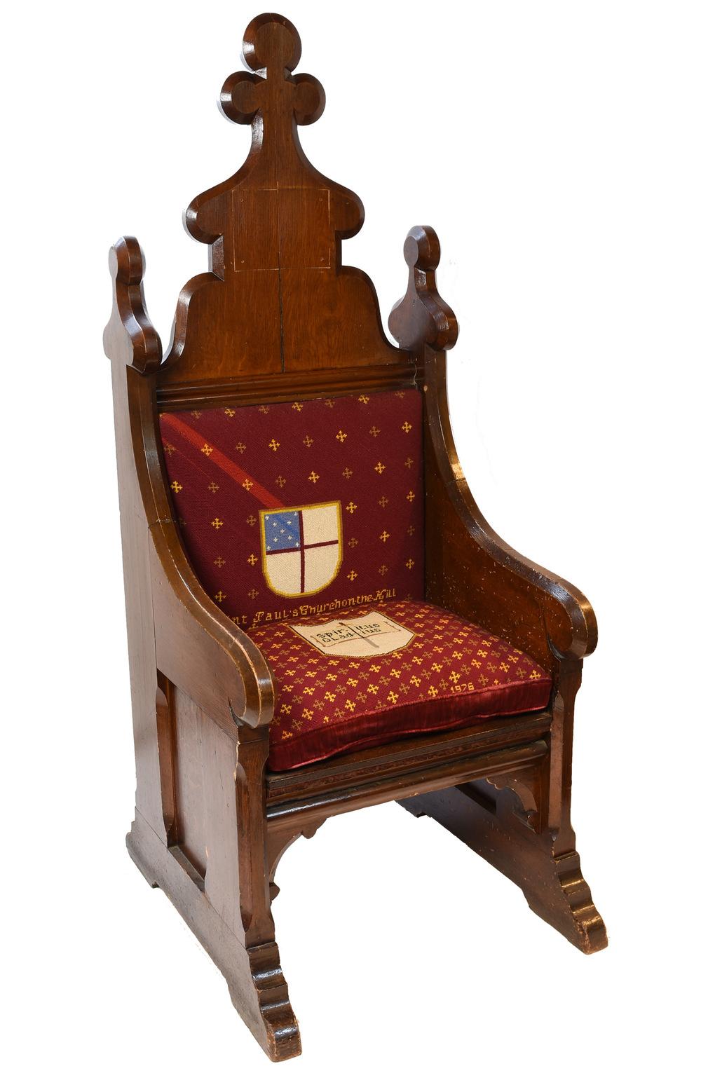 46367 Needlepoint Chair Spiritus Gladius Front Angle