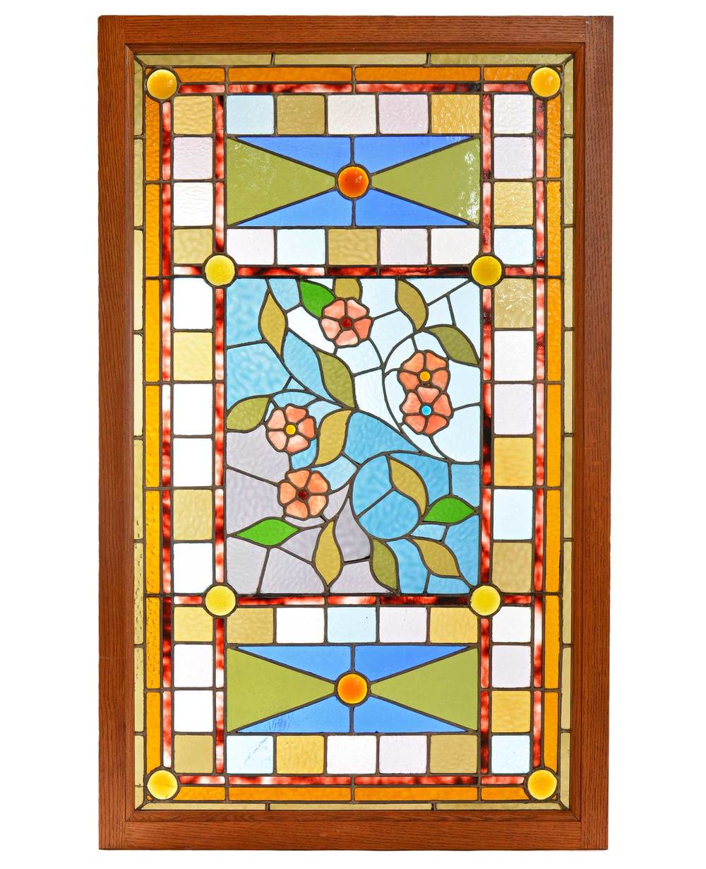 Aesthetic Victorian Floral Window Architectural Antiques