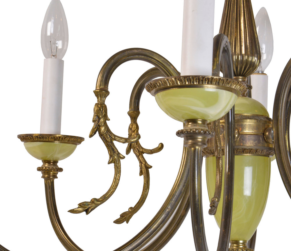 46510--6-candle-chandelier-with-with-faux-green-glass-arms.jpg