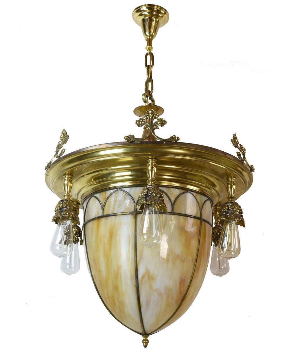 46609-6-light-brass-chandalier-with-slag-glass-shade-bulb-whole.jpg