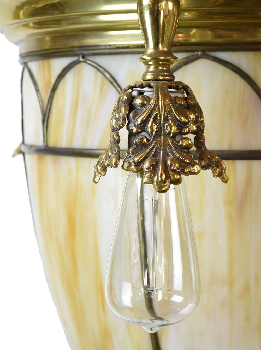46609-6-light-brass-chandalier-with-slag-glass-shade-side.jpg