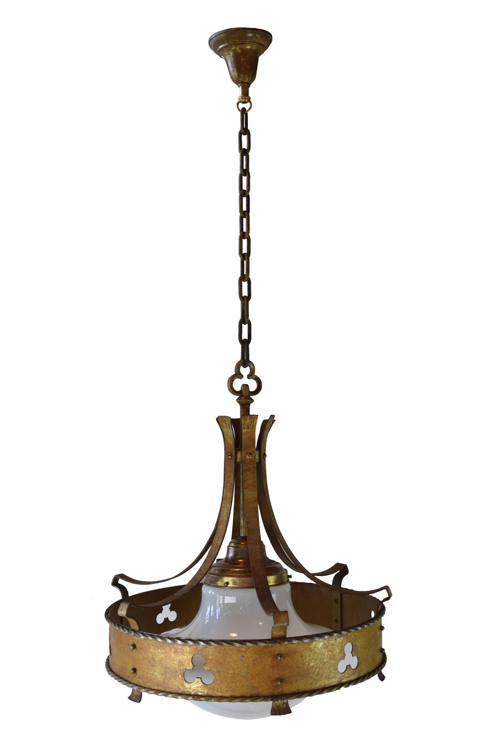 Iron gothic chandelier with trefoil architectural antiques 46592 iron gothic chandelier with trefoilg aloadofball Gallery