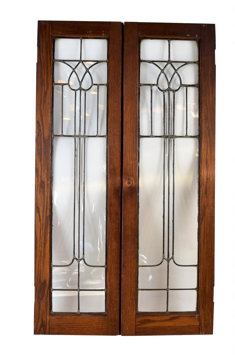 Best Leaded Glass Cabinet Doors Set