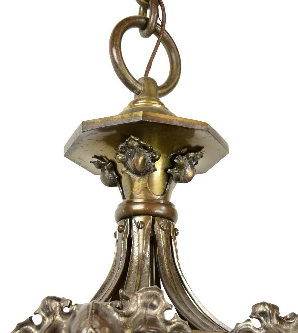 45255-cast-brass-crocket-chandelier-with-quezal-shades-top.jpg