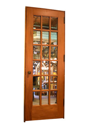 Mirrored French Doors doors — architectural antiques