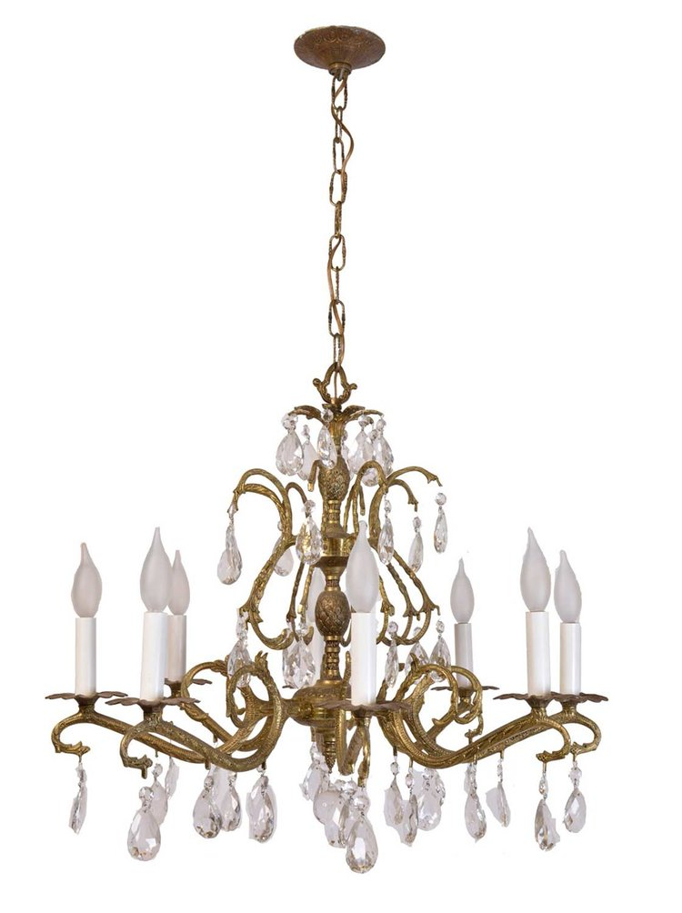Architectural Antique's 8-Arm Spanish Crystal Chandelier
