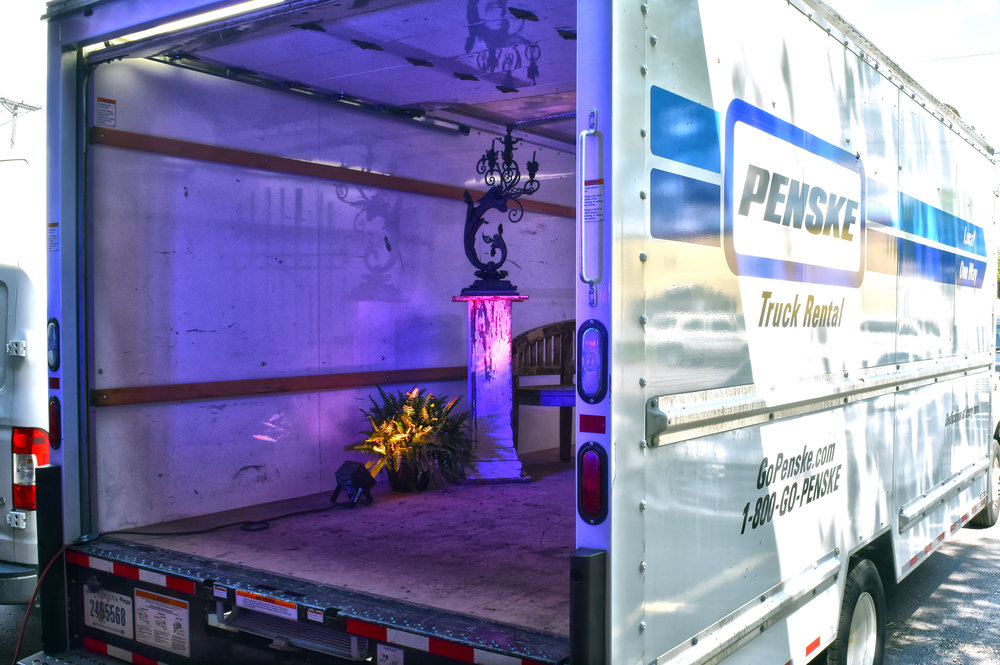WE DESIGNED THEMED ROOMS INSIDE A TRUCK -