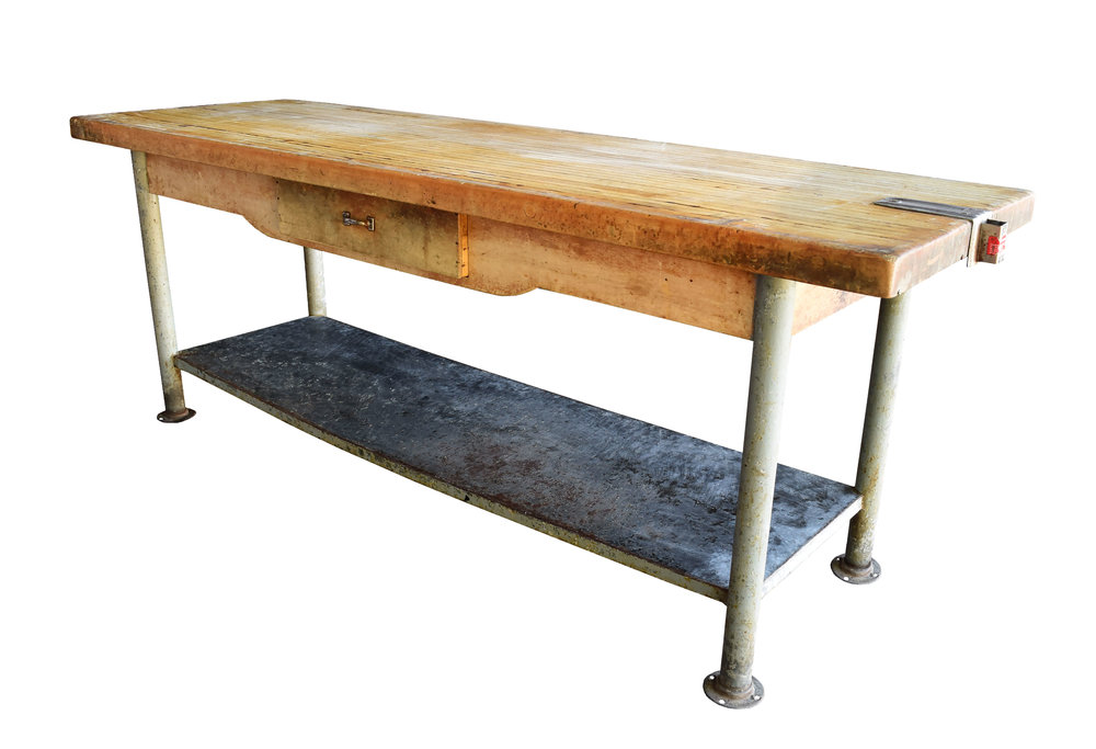 Butcher Block Work Table