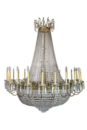 Giant italian crystal chandelier architectural antiques giant italian crystal chandelier aloadofball Choice Image