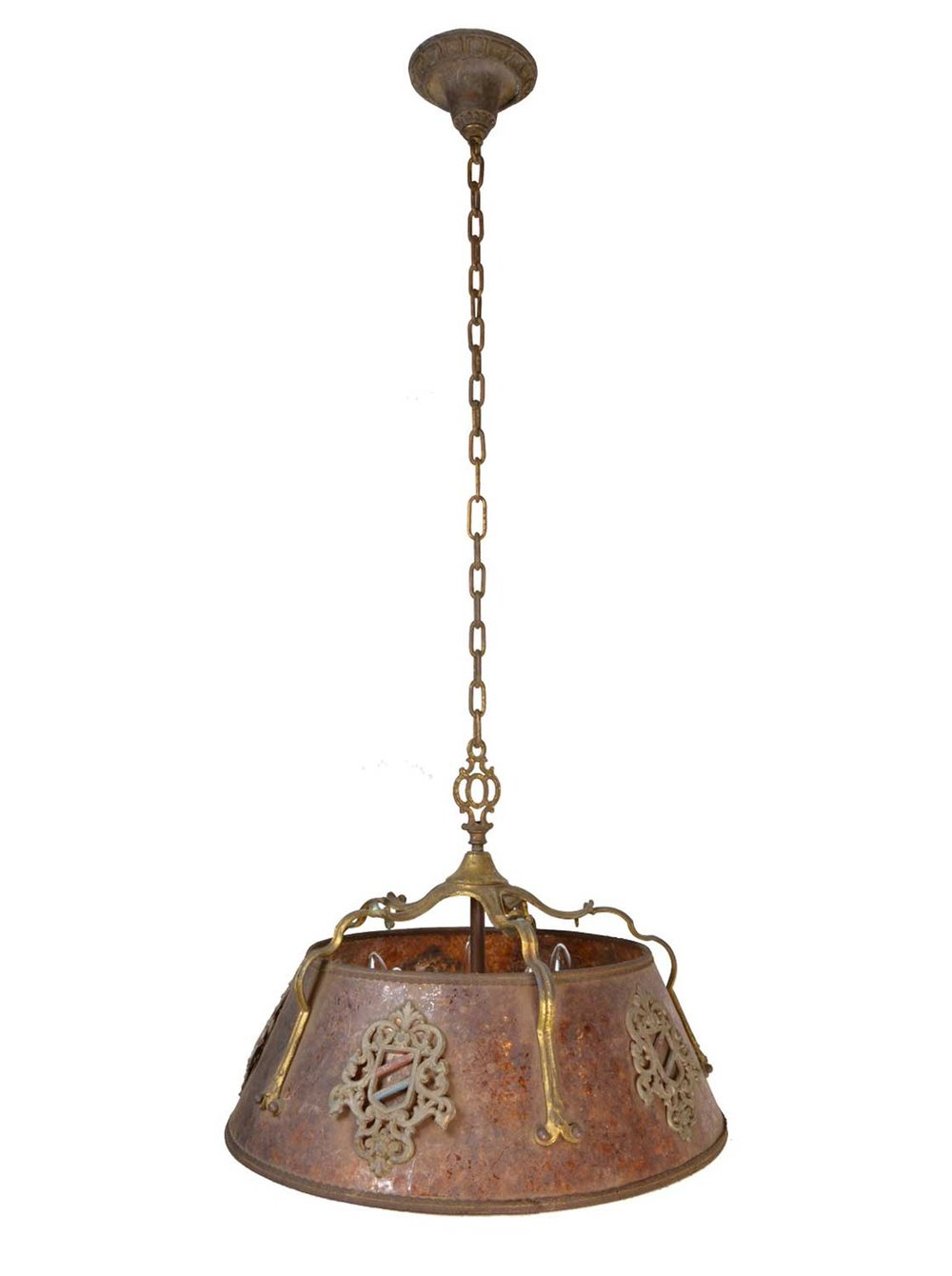 5-light mica tudor chandelier