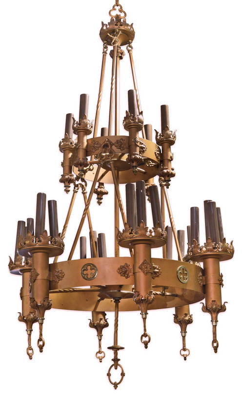 two-tier gothic chandelier