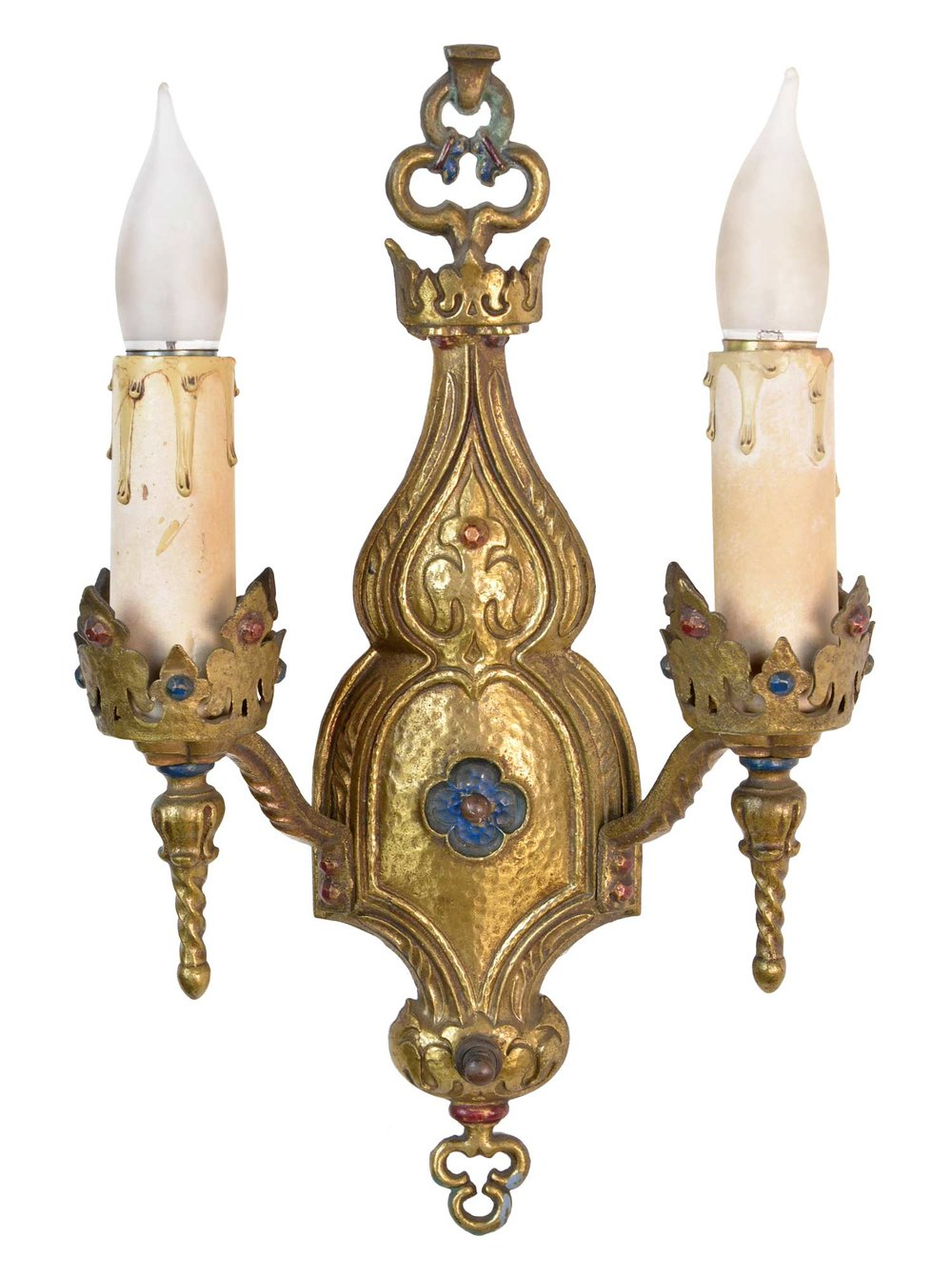 decorative gothic brass sconces
