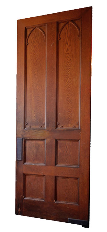 oak gothic swinging door