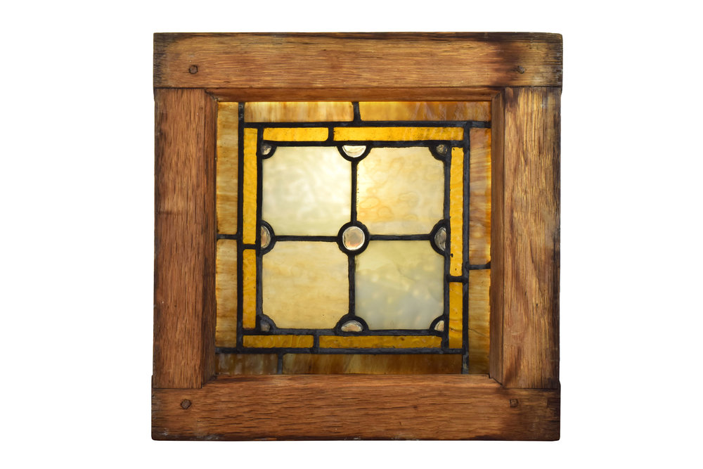 small square victorian jeweled window