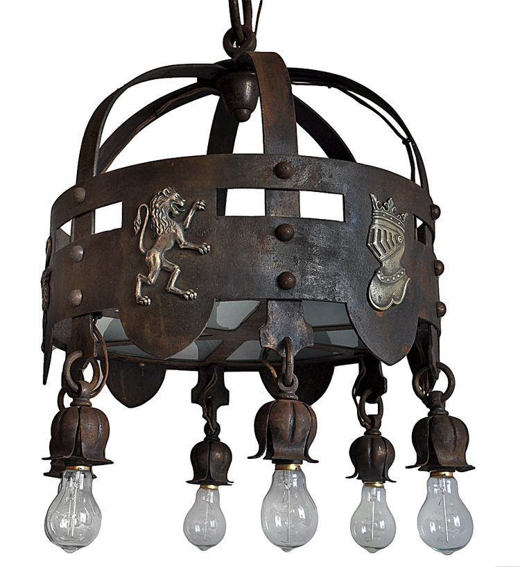 iron arts & crafts chandelier