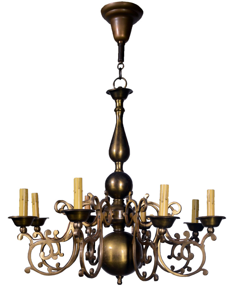 cast brass colonial chandelier
