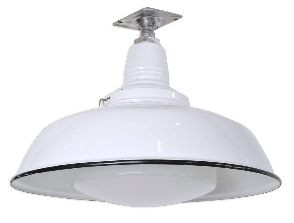 white enamel industrial pendant
