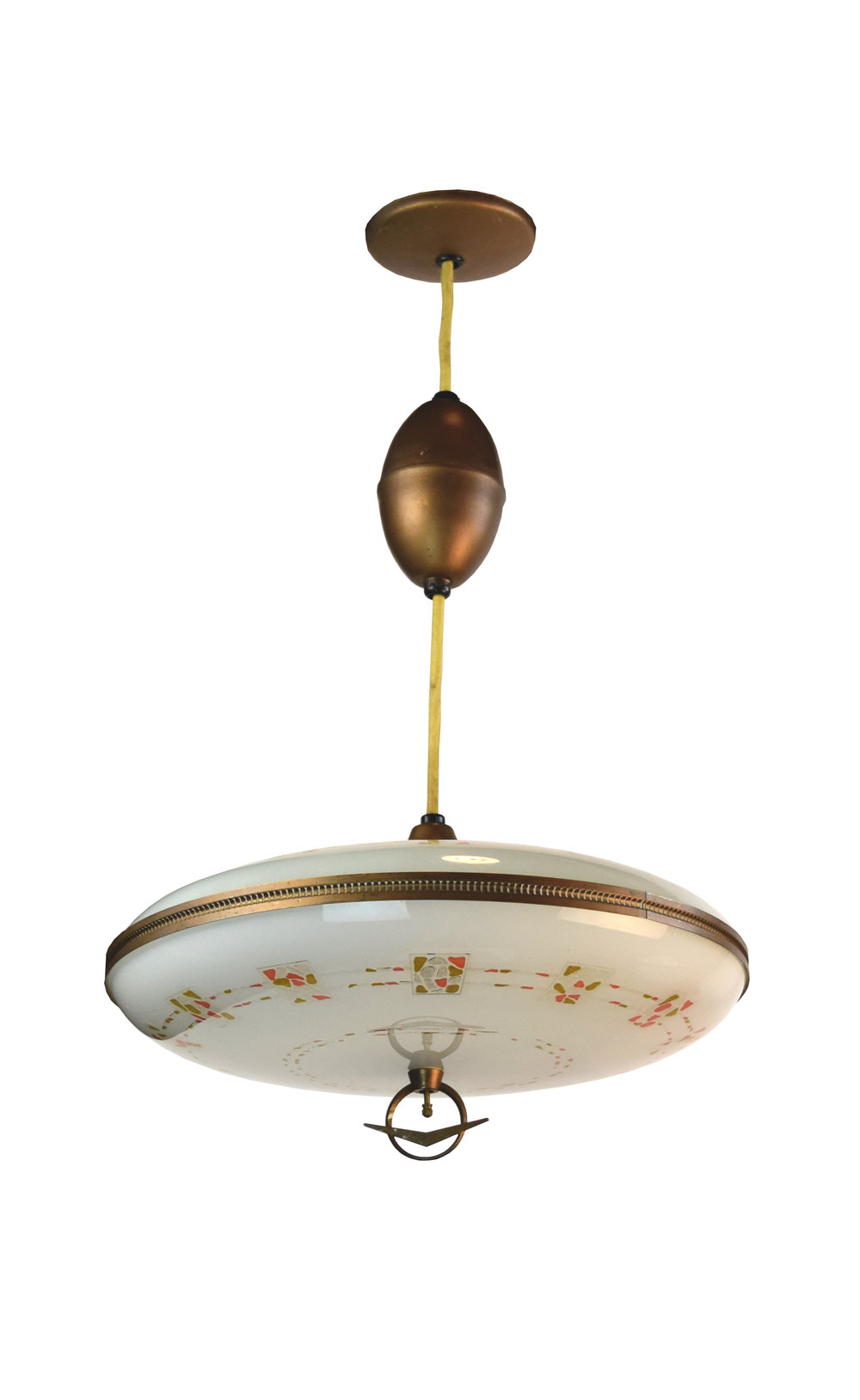 lightolier pendant with mosiac tile decor