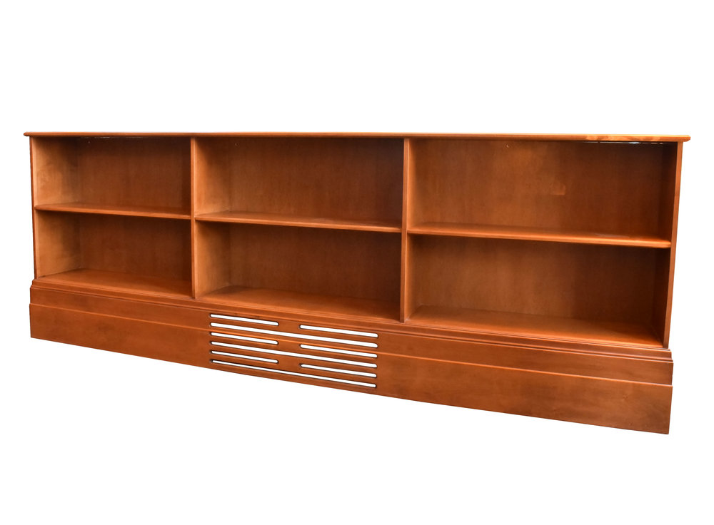 mod walnut bookcase
