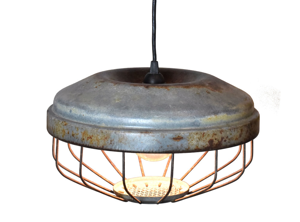 Architectural Antique's Re-Purposed Steel Warehouse Light