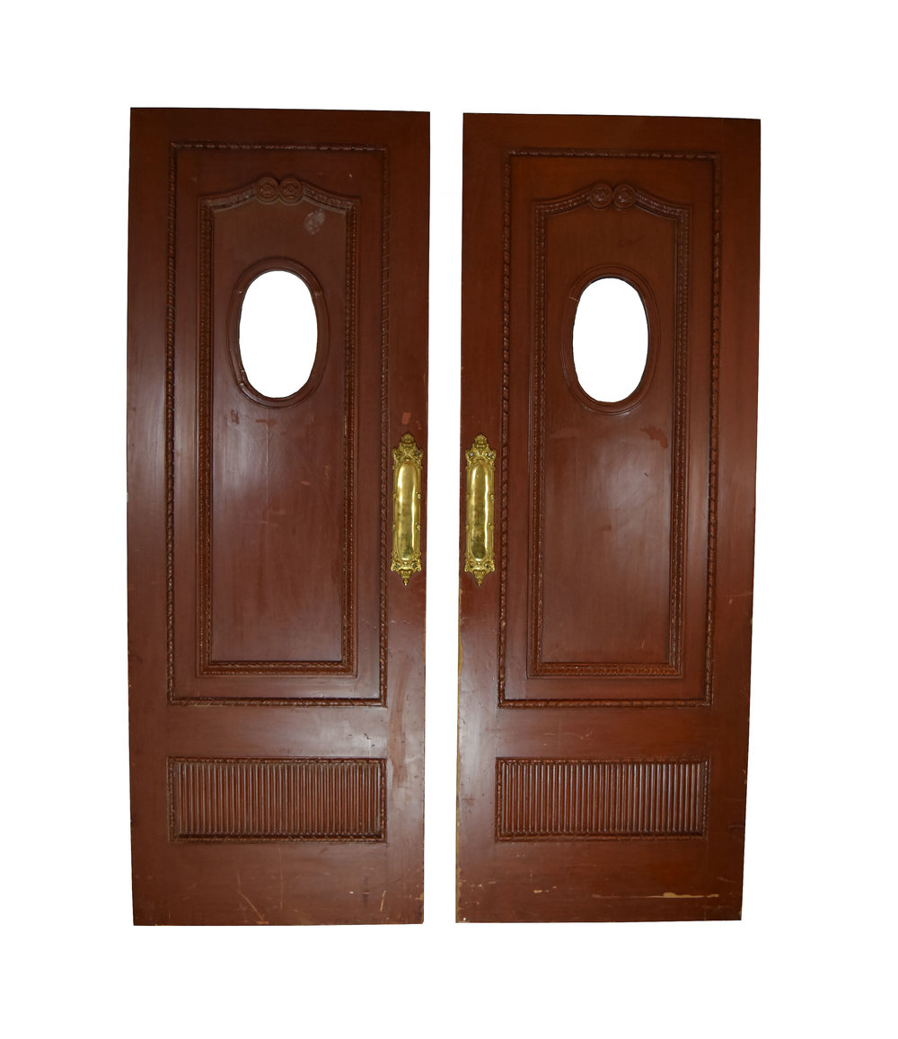 victorian entrance door pair with oval windows  sc 1 st  Architectural Antiques & victorian entrance door pair with oval windows \u2014 ARCHITECTURAL ANTIQUES