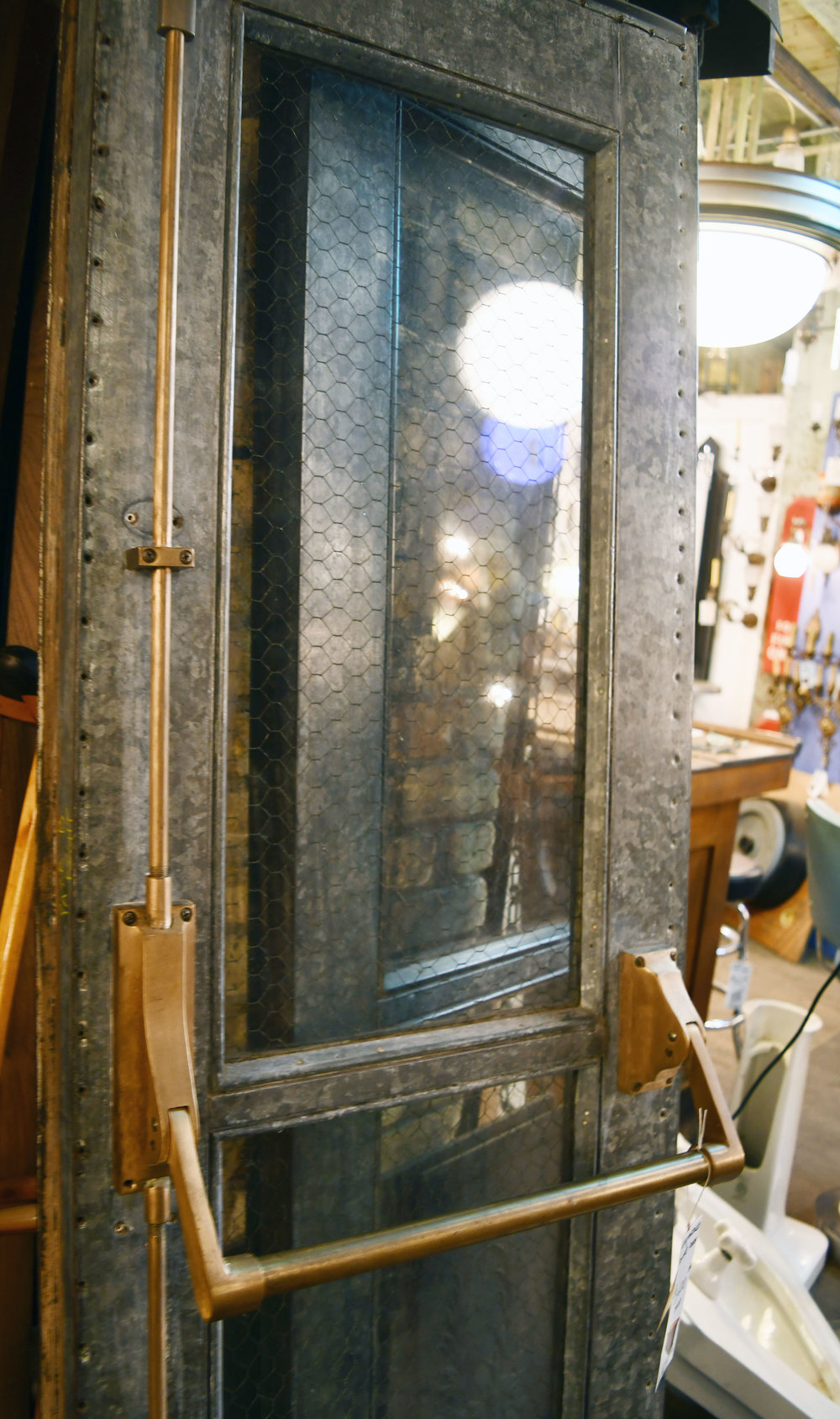 Chicken Wire Galvanized Door
