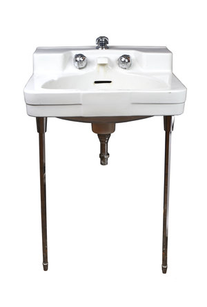1950s Wall Mount Sink With Chrome Legs