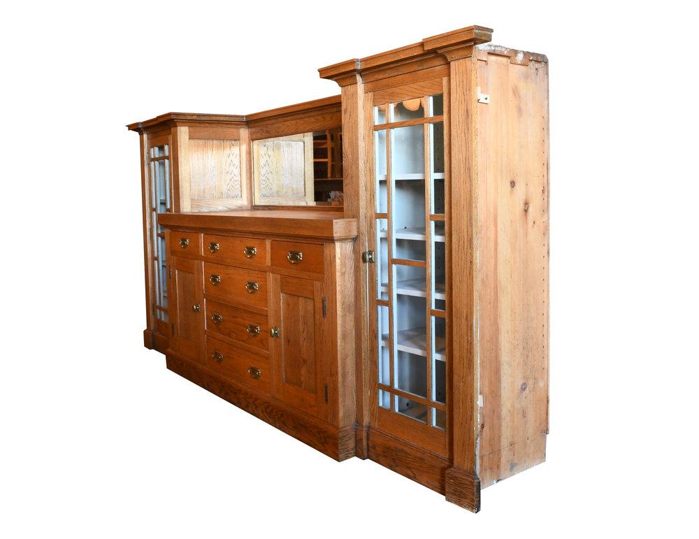 Golden Oak Craftsman Buffet— Architectural Antiques
