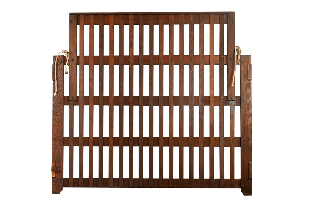 wood freight elevator gate